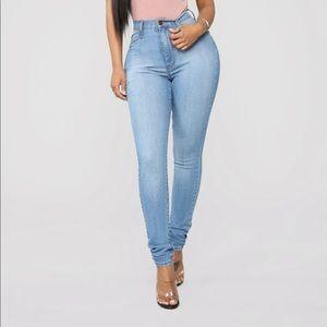 Fashion nova classic high waisted skinny jeans